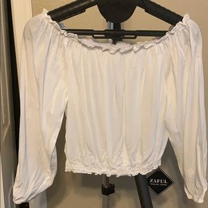 Cropped cotton blouse